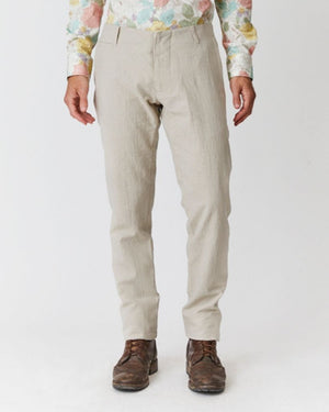 Slim Trouser | Crushed Natural Linen