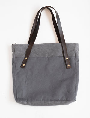 Park Bag | Charcoal Twill/Charcoal Waxed Canvas
