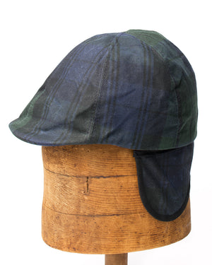 Duckbill Cap | Navy Plaid Waxed Cotton