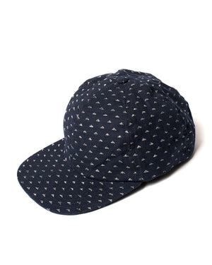 Kids Ball Cap - Navy with Mountains - front