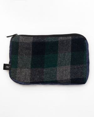 Pouch | Balsam Check/Navy Waxed Cotton
