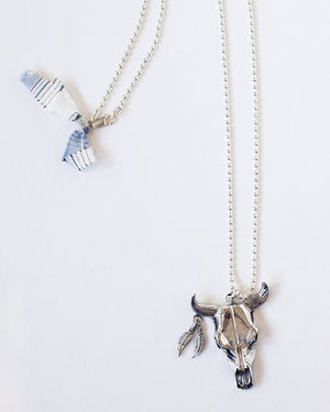 The Desert Blues Collection | Large Spirit Skull Necklace