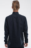 Cotton Indigo Dashes Long Sleeve Shirt Back