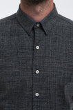 Cotton Indigo Dots Long Sleeve Shirt Front Detail