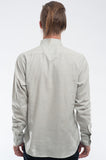 Cotton Soft Blue Long Sleeve Shirt Back