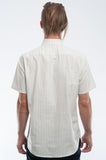 Retro Pinstripe Short Sleeve Shirt Back