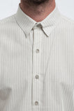 Retro Pinstripe Short Sleeve Shirt Front Detail