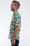 Cotton White Palms Short Sleeve Shirt Side