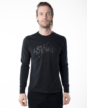 Black Graphic T-shirt | 18 Waits | front