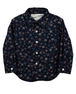 Long Sleeve Shirt | Navy Wildflowers