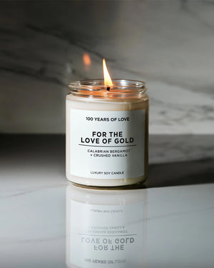 For the Love of Gold Candle