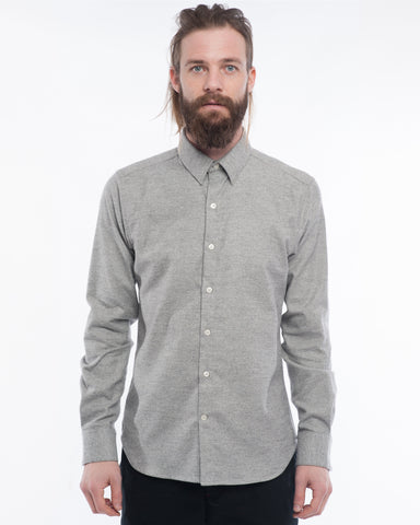 The Dylan Long Sleeve Shirt | Grey Mix Flannel