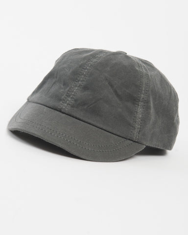 Grey Waxed Cotton Cap - front