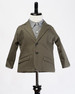 Kids Green Blazer | Hopper Hunter | Front