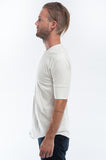 Cotton Off-White Henley Side
