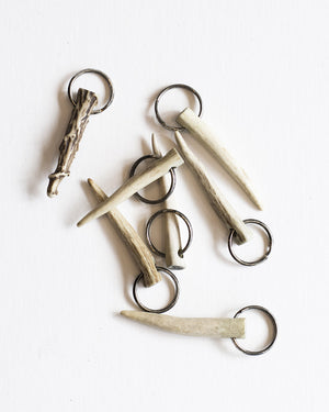 Natural Brown antler key chains