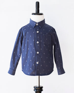 Long Sleeve Shirt | Navy Anchors