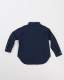 Kids Long Sleeve Button-Up Shirt - Navy Hearts back