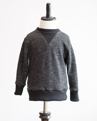 Kids Black French Terry Sweatshirt - front