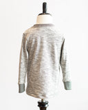 Kids Grey Melange Jersey Long Sleeve T-shirt - back