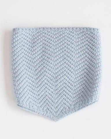 Hopper Hunter | The Neckwarmer | Light Blue Merino Wool