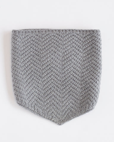 Hopper Hunter | The Neckwarmer | Light Grey Merino Wool