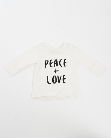 Kids Long Sleeve T-Shirt - Peace + Love front