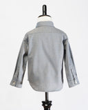 Kids Button Up Shirt - grey fleck -back