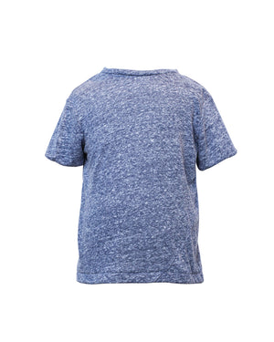 Kids Navy Slub T-shirt - Front