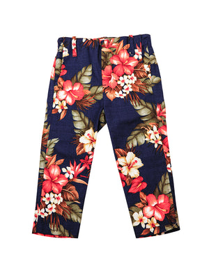 Kids Bright Floral Suit Trouser - front