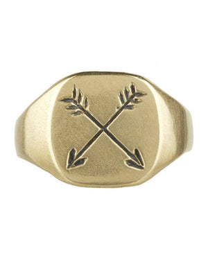 LHN | Small Arrow Ring | Brass