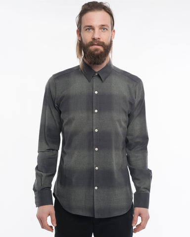 The Dylan Long Sleeve Shirt | Large Charcoal Check