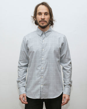 Dylan Shirt | Light Grey Windowpane