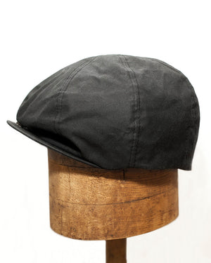 Bruce Cap | Black Waxed Cotton