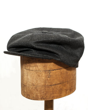 Bruce Cap | Charcoal Plaid Wool