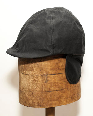 Duckbill Cap | Black Waxed Cotton