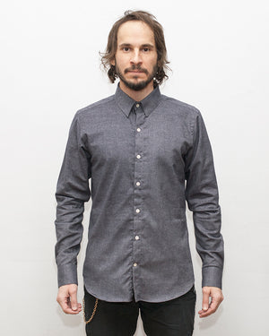 Dylan Shirt | Navy Twill Flannel