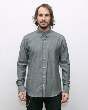 Dylan Shirt | Charcoal Twill Flannel