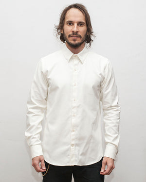 Dylan Shirt | Winter White | White Buttons