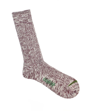 Anonymous Ism Socks | Maroon Melange Hemp