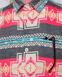 Men's Aztec Navy Jacket - detail chest