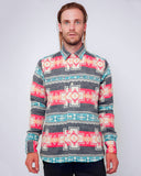 Men's Aztec Navy Jacket - front