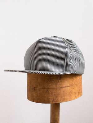 Snapback Cap Hat - Railroad Stripe - front