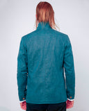 Men's Blue Cotton Jacket - back