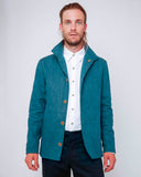 Men's Blue Cotton Jacket - front open