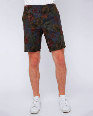 Men's Dark Floral Print Shorts - front