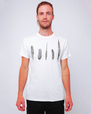 Men's Graphic T-Shirt Feathers - front