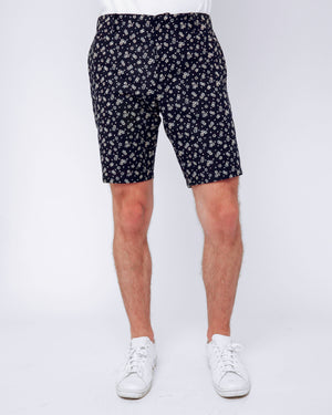 Men's Shorts Flowers and Hearts Print - front