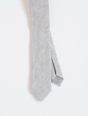 Men's Light Grey Pinstripe Tie - front