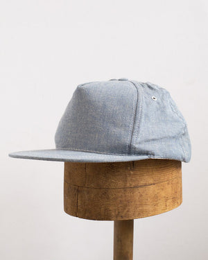 The Casey Jones Cap | Blue Herringbone